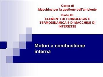 Motori endotermici alternativi