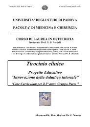 Tirocinio clinico - Dipartimento di Scienze Ginecologiche e della ...