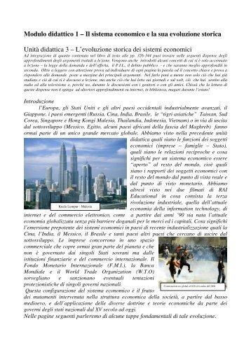 Modulo didattico 1 – Il sistema economico e la sua ... - IIS L.Nobili