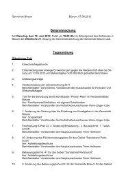 Bekanntmachung Tagesordnung - Amt Büsum