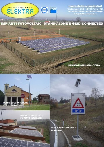 impianti fotovoltaici stand-alone e grid connected - Logismarket