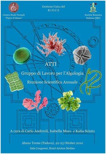 Atti Riunione 2010 - Società Botanica Italiana