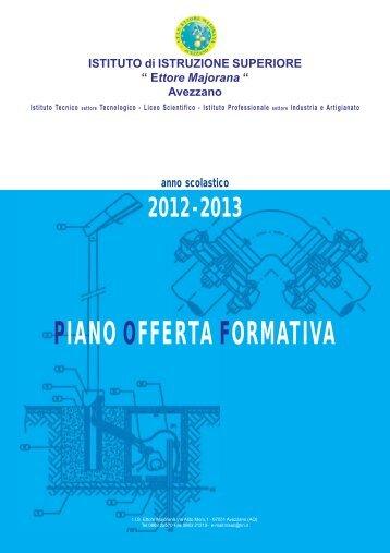 """Piano dell' Offerta Formativa 2012-2013 - ITIS """"Ettore Majorana"""""""