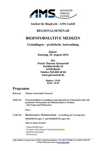 FAX / BRIEF Fax: (09341) - Ams-ag.de