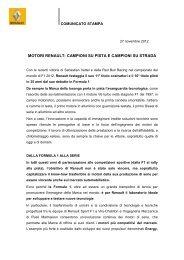 Scarica il comunicato stampa - Renault