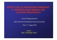 effetti delle radiazioni ionizzanti e sorveglianza medica dei ... - Elettra