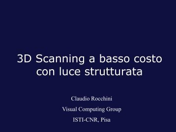3D Scanning a basso costo