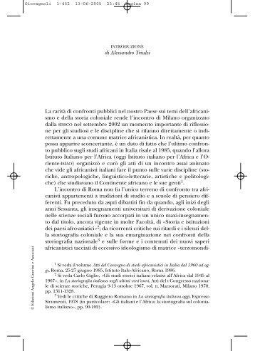 Introduzione - Società Italiana per lo Studio della Storia ...