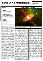 Anno 2006 numero 3 (file PDF) - Gruppo Astrofili Astigiani