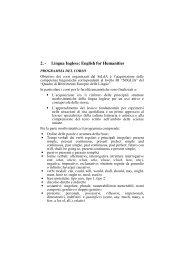 area umanistica - Servizio linguistico (SeLdA)