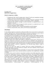 ANNO SCOLASTICO 2010-2011 PROGRAMMA INGLESE CLASSE