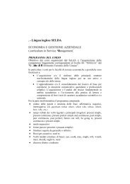 facolta' di economia - Servizio linguistico (SeLdA)