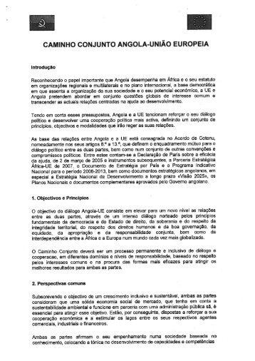 CAMINHO CONJUNTO ANGOLA-UNIÃO EUROPEIA - Europa