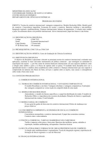 CNM 7223 - Economia Internacional I - Departamento de Economia ...
