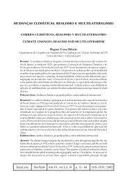 mudanças climáticas, realismo e multilateralismo - Secretaria do ...