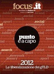 numero 20 - Marzo 2012 - Nic.it