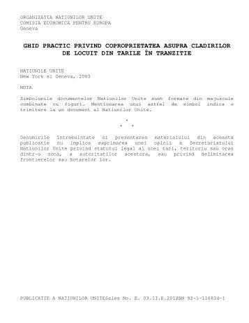 ghid practic privind coproprietatea asupra cladirilor de locuit - FAPR