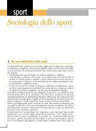 Sociologia dello sport - G. Veronese