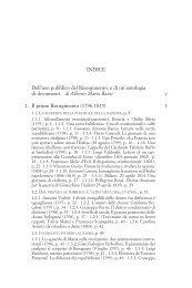 inDice Dell'uso pubblico del Risorgimento, e di un'antologia di ...