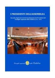 i presidenti dell'assemblea - Consiglio regionale della Calabria