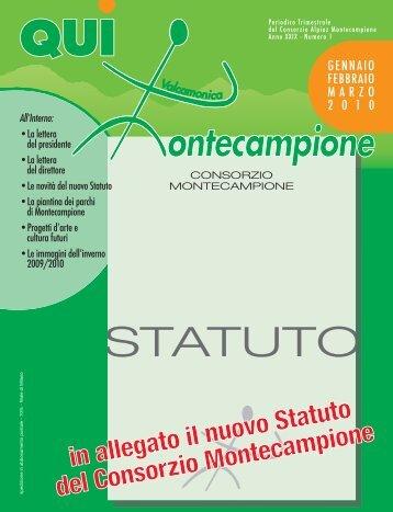 qui montecampione n° 1 gennaio-febbraio-marzo 2010