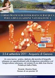 corso pratico di fotografia subacquea per la ... - skua nature