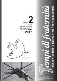 febbraio 2012 - Tempi di Fraternità