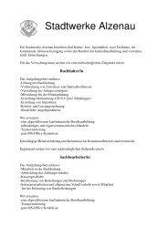 Stellenausschreibung Stadtwerke Verwaltung  2 - Stadt Alzenau