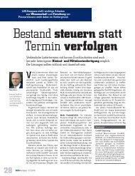Wolff, Reinald: Bestand steuern statt Termin verfolgen