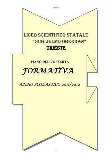 lingua e letteratura italiana - Liceo Scientifico Statale G. Oberdan