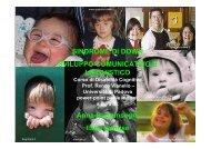 sviluppo comunicativo e linguistico - Sindrome di Down