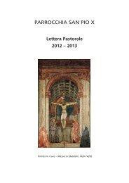 Lettera Pastorale 2012 – 2013 - San Pio X