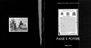 PANE E POTERE (parte I) - Sistema Archivistico nazionale