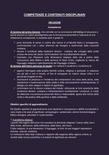 Le competenze ed i contenuti disciplinari - Liceoaselli.it