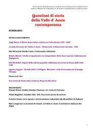 Questioni di storia della Valle d' Aosta contemporanea
