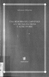 Una memoria del carnevale a S. Nicola da Crissa e altre storie
