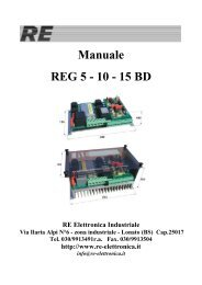Manuale REG 5 - 10 - 15 BD - RE Elettronica Industriale
