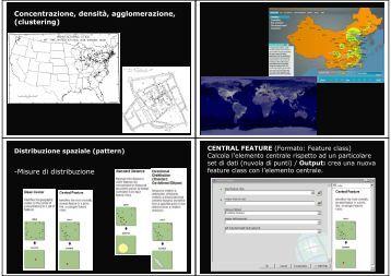 Concentrazione, densità, agglomerazione, (clustering) -Misure di distribuzione