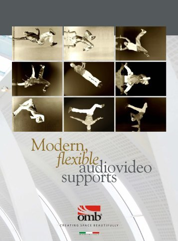 flexible audiovideo supports Modern, - OMB Italy