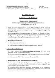 Merkblatt für Eltern und Träger - Gemeinde Wentorf bei Hamburg