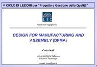 DESIGN FOR MANUFACTURING AND ASSEMBLY (DFMA) - Liuc