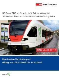 Fahrplan Wiesentalbahn 2013 - SBB Deutschland GmbH