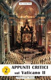 APPUNTI CRITICI sul Vaticano II 2 - Chiesa viva