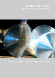 Cold-work tool steels and high-speed steels - SCHMOLZ ...
