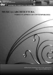 Musica ed architettura verso un approccio contemporaneo
