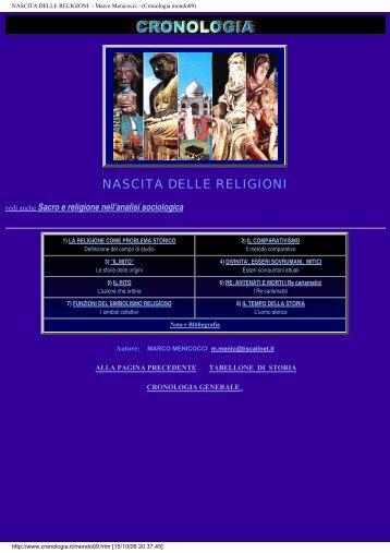 NASCITA DELLE RELIGIONI - Marco Menicocci ... - Istituto Marco Belli