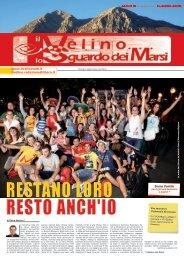 Il Velino, lo Sguardo dei Marsi Anno III, numero 49/15 del 31 agosto ...