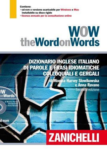 theWordonWords - Dizionari - Zanichelli