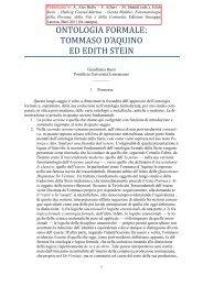 ontologia formale: tommaso d'aquino ed edith stein - STOQ