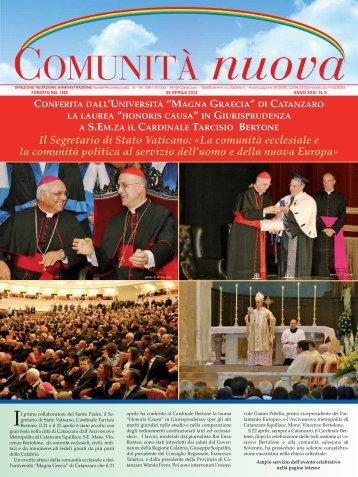 Il Segretario di Stato Vaticano: «La comunità ecclesiale e la ...